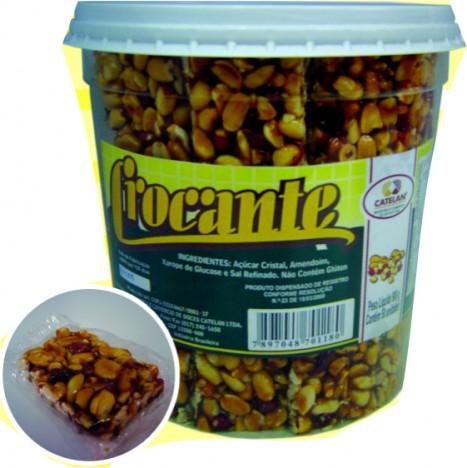 Crocante de Amendoim com Caramelo Pote 50 Doces - Catelândia