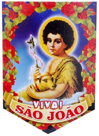 Decoração de Festa Junina Banderola com Imagem de São João - Catelândia