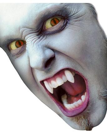 Dentes de Vampiros Postiços Alongador de Caninos - Estojo com 4 Unidades