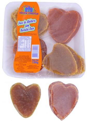 Doce de Abóbora Coração Embalagem 120g - Doces Castelo