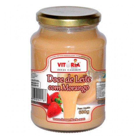 Doce de Leite Cremoso com Morango para Tacinhas  680 g - Catelândia