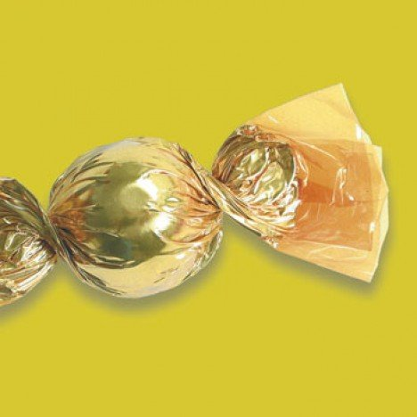 Embalagens para Trufas e Bombons 100 Un Amarelo - Catelândia
