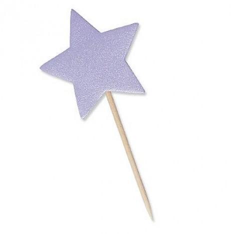 Estrela Lilás com Glitter para Lembrancinha 10 Un - Catelândia