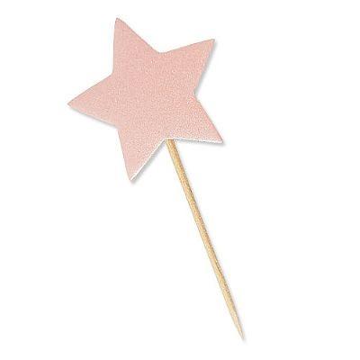 Estrela Rosa com Glitter para Lembrancinhas 10 Un - Catelândia