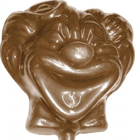Forma de Pirulito Palhacinho para Confecção de Chocolates 23g - BWB