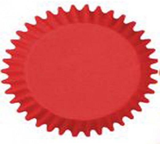 Forma Prática que Vai ao Forno para Cup Cake Mini Bolo Vermelha - Catelândia