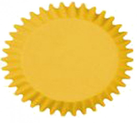 Forminha que Vai ao Forno para Cup Cake Mini Bolo Amarela - Catelândia