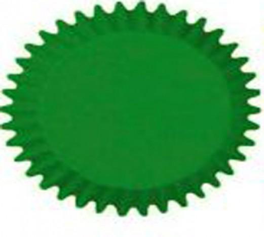 Forminha que Vai ao Forno para Cup Cake Mini Bolo Verde - Catelândia