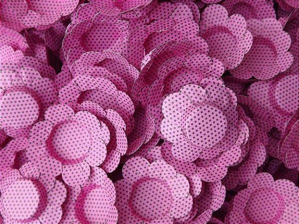 Forminhas para Docinhos  Pink Com Bolinha Preta 50 Un