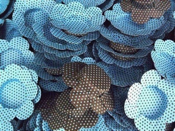 Forminhas para Docinhos Marrom Com Bolinha Azul