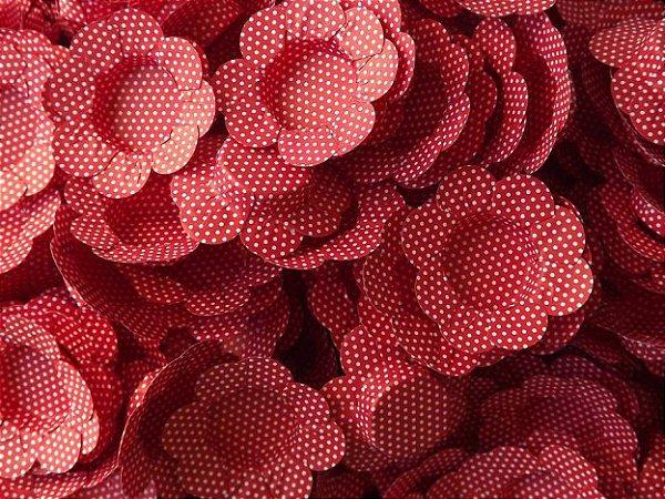 Forminhas para Docinhos Vermelho Com Bolinha Branca 50un