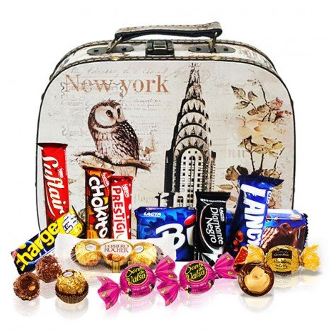 Frasqueira com Deliciosos Chocolates para Elas - Catelândia