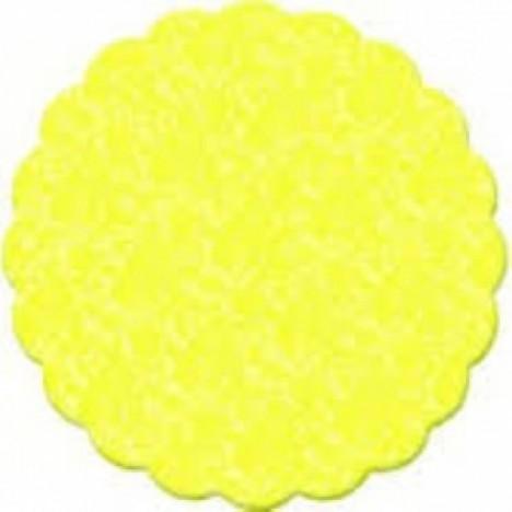 Fundo Rendado para Decoração de Docinhos Amarelo 100 Un - Catelândia