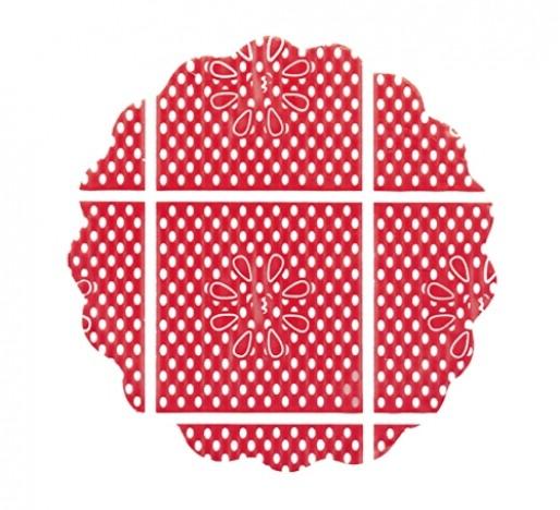 Fundo Rendado para Decoração de Docinhos Vermelho 100 Un - Catelândia