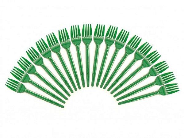 Garfos de Plástico para Sobremesa (Bolo) 50 Und Verde - Catelândia