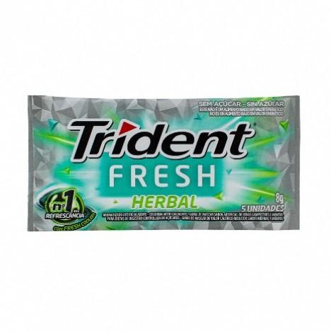 Goma de Mascar Trident Fresh Herbal c/ 21 unidades - Adams