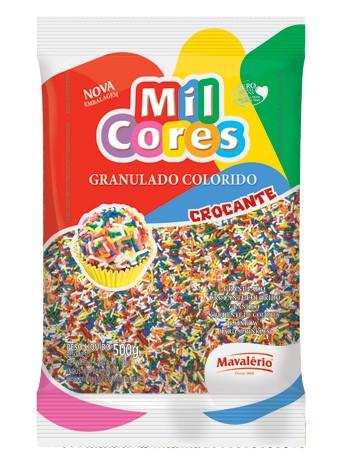 Granulado Colorido Mil Cores 500g p/ Docinhos ou Mesa de Guloseimas - Catelândia