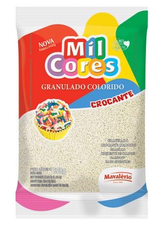 Granulado Colorido Mil Cores Branco 500g - Mavalério
