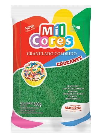 Granulado Colorido Mil Cores Verde 500g - Mavalério