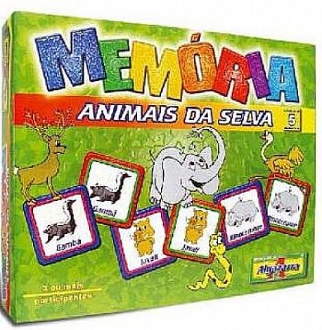 Jogo Educativo Memória Animais da Selva - Loja Catelândia