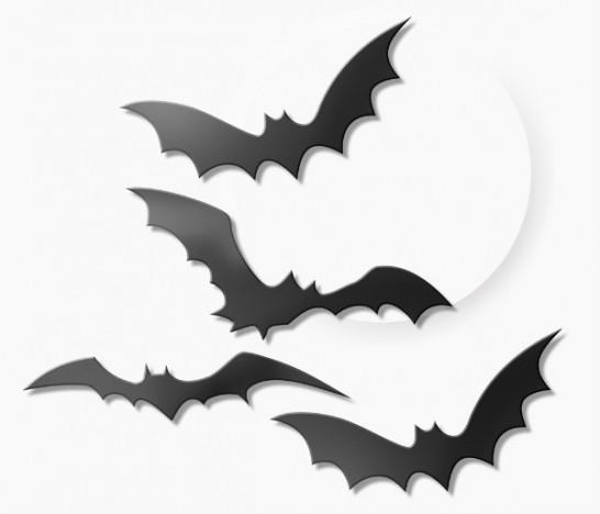 Kit 4 Morcegos Plásticos - Decoração - Festa Halloween - Catelândia