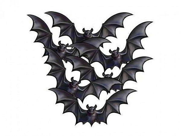 Kit 6 Morcegos Decorativos - Festa Halloween - 20cm Cada - Catelândia