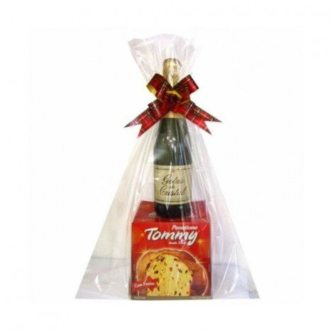 Kit Presente de Natal - Panettone e Espumante - Catelândia