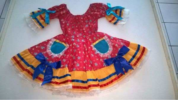 Kit Vestido Infantil P/ Quadrinha de Festa Junina 05 Un - Catelândia