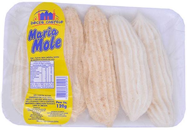 Maria-Mole com Coco 120g - Doces Castelo