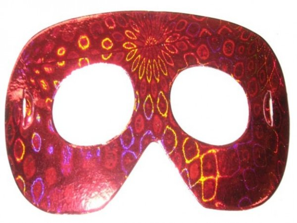 Máscara Holográfica Clássica para Festas Pacote 10 Un - Catelândia