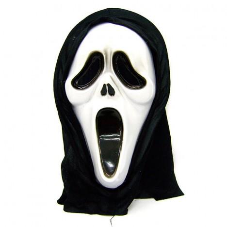 Máscara Pânico com Capuz Preto Halloween Edition - Catelândia