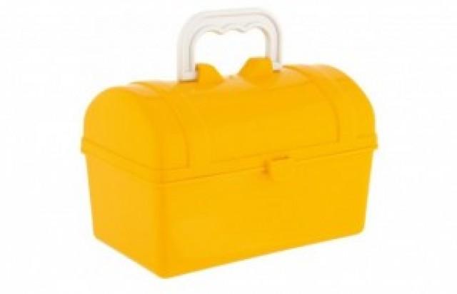 Mini Baú para Lembrancinha ou Sacolinha Surpresa Amarelo 06 Un - Catelândia