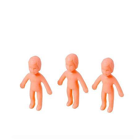 Mini Brinquedo - Bonequinhos Cor Pele - 20 Un - Catelândia