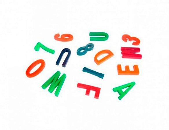 Mini Brinquedo - Educativo - Letras e Números - Sacolinha Surpresa - 50 Un