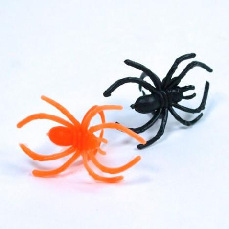 Mini Brinquedo Anel com Aranha Preta 48 Un Halloween - Catelândia