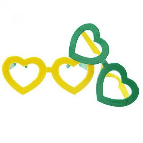 Óculos Verde e Amarelo - 10 Un