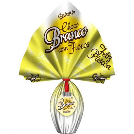 Ovo De Páscoa - Chocolate Branco - Crocante - 120g