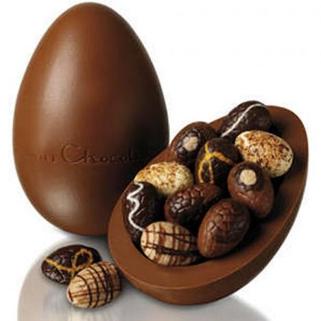 Ovo De Páscoa Grande, 3 Kg Chocolate Fino Tipo Belga Com Bombons