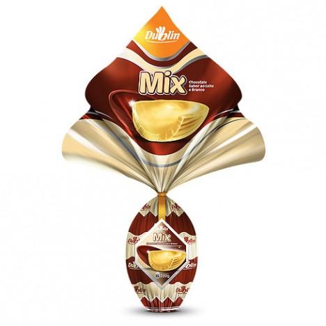 Ovo de Páscoa N° 15 Metade Chocolate ao Leite Metade Branco 220g Cx. com 12 - Catelândia