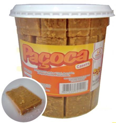 Paçoca Caseira Doce de Amendoim Pote com 50 Doces - Doces Catelan