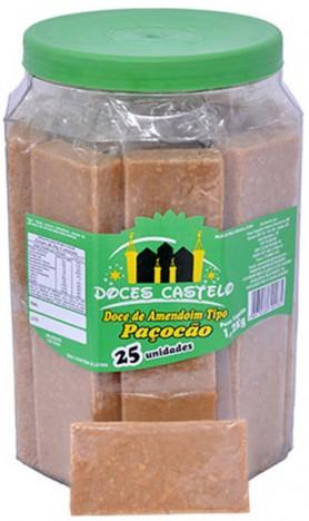 Paçocão Doce de Amendoim 20 Doces Embalados Individualmente - Doces Castelo
