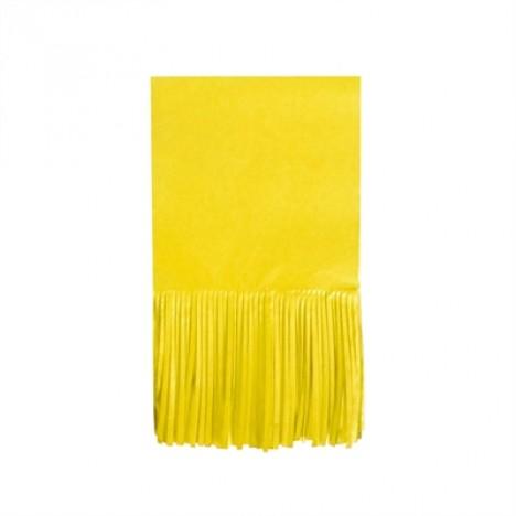 Papel para Bala de Coco Seda Franjinha 48 Un Amarelo - Catelândia