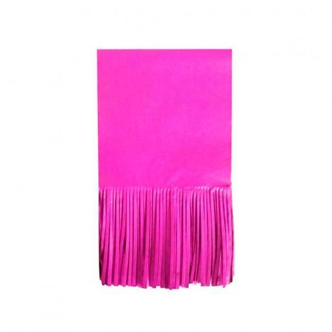 Papel para Bala de Coco Seda Franjinha 48 Un Pink - Catelândia