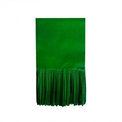 Papel para Bala de Coco Seda Franjinha 48 Un Verde Escuro - Catelândia