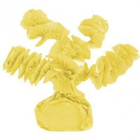 Papel Rococó Caracol para Bala de Coco Amarelo Citrino 40 Un