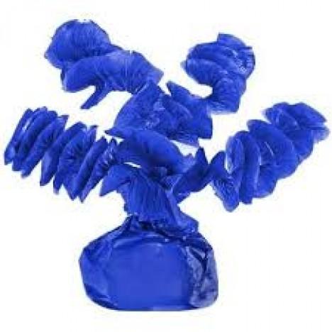 Papel Rococó Caracol para Bala de Coco Azul Cobalto 40 Un