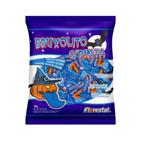 Pirulito Bruxolito Que Pinta a Língua de Azul 50 Un - Halloween Edition