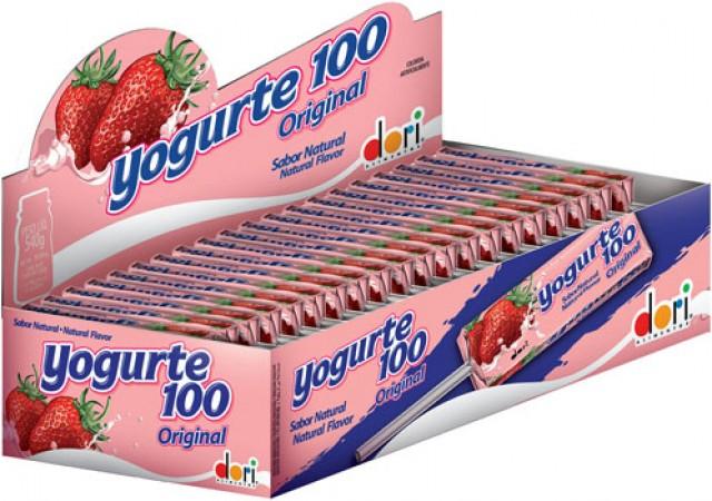 Pirulito Mastigável Yogurte 100 Original 50 Unidades Dori - Catelândia