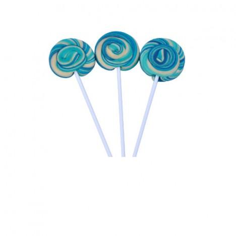 Pirulito Psicodélico Azul e Branco Diâmetro: 5 cm Altura: 20 cm 25 Unidades - Catelândia