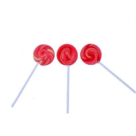 Pirulito Psicodélico Rosa e Branco Diâmetro: 5 cm Altura: 20 cm 25 Unidades - Catelândia